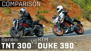 Benelli TNT 300 vs KTM 390 Duke :: Bike Comparison Video :: ZigWheels