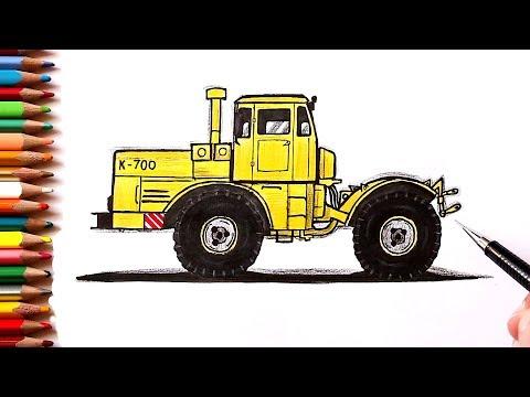 Как нарисовать Трактор Кировец К-700 | Ehedov Elnur