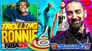 Ronnie 2k Didn't Give Me a Logo So I Decided to Troll Him Live on Stream... I Got Banned NBA 2K21
