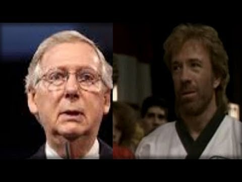 CHUCK NORRIS JUST ROUNDHOUSE KICKED MITCH MCCONNELL WITH WHAT HE JUST DID