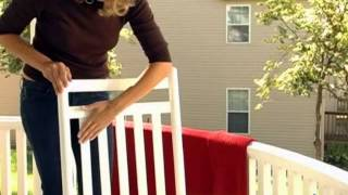 Dixie Seating Indoor Outdoor Slat Rocking Chair! - Product Review Video