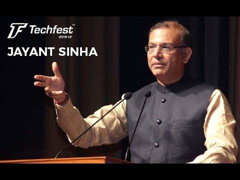 Shri Jayant Sinha   MoS, Civil Aviation   Techfest IIT Bombay