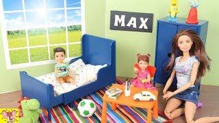 Как сделать Домик для Кукол Барби из Бумаги  Набор Игрушечной мебели Икея