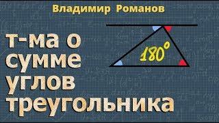 ТЕОРЕМА О СУММЕ УГЛОВ ТРЕУГОЛЬНИКА 7 класс
