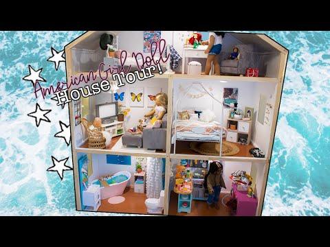 🌊HUGE Vsco Inspired American Girl Doll House Tour (IT LOOKS REAL)! Aesthetic Dollhouse