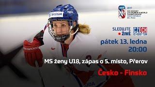 MS ženy U18, zápas o 5. místo Finsko - Česko (Přerov)