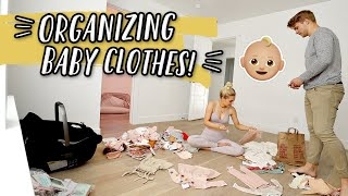 ORGANIZING BABY GIRL'S CLOSET + MINI BUMP UPDATE!
