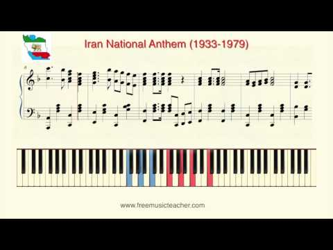 "How To Play Piano: ""Iran National Anthem 1933 1979"" Piano Tutorial by Ramin Yousefi"