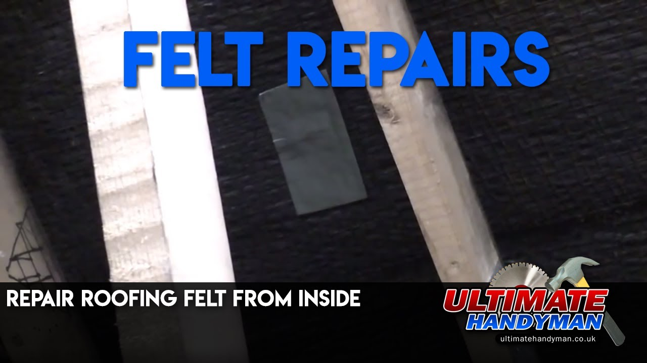 repair roofing felt from inside youtube. Black Bedroom Furniture Sets. Home Design Ideas