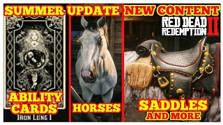 Summer Update NEW Content NEW Clothes, Horses, Ability Cards and More Red Dead Online