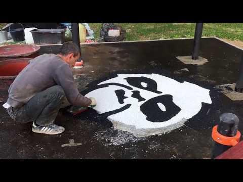 Бесшовное резиновое покрытие спортивной площадки на ул. Удальцова 73