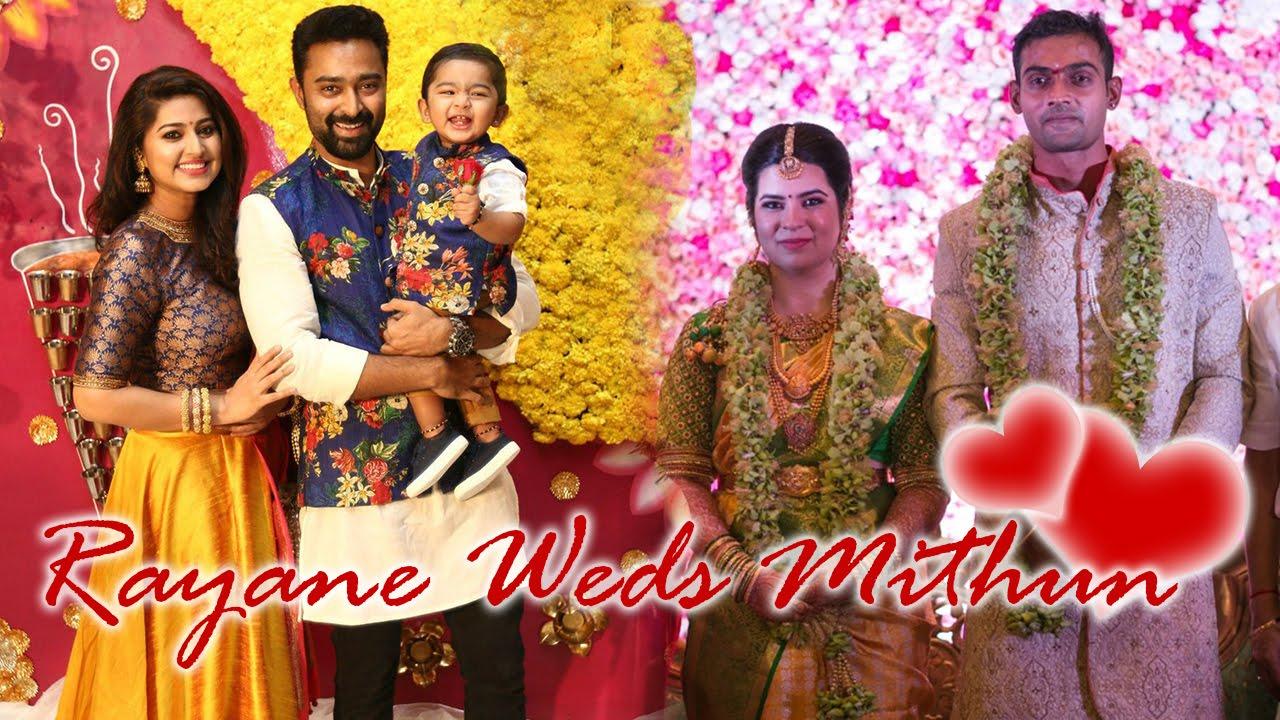 radhika daughter rayane mithun marriage photos wedding reception