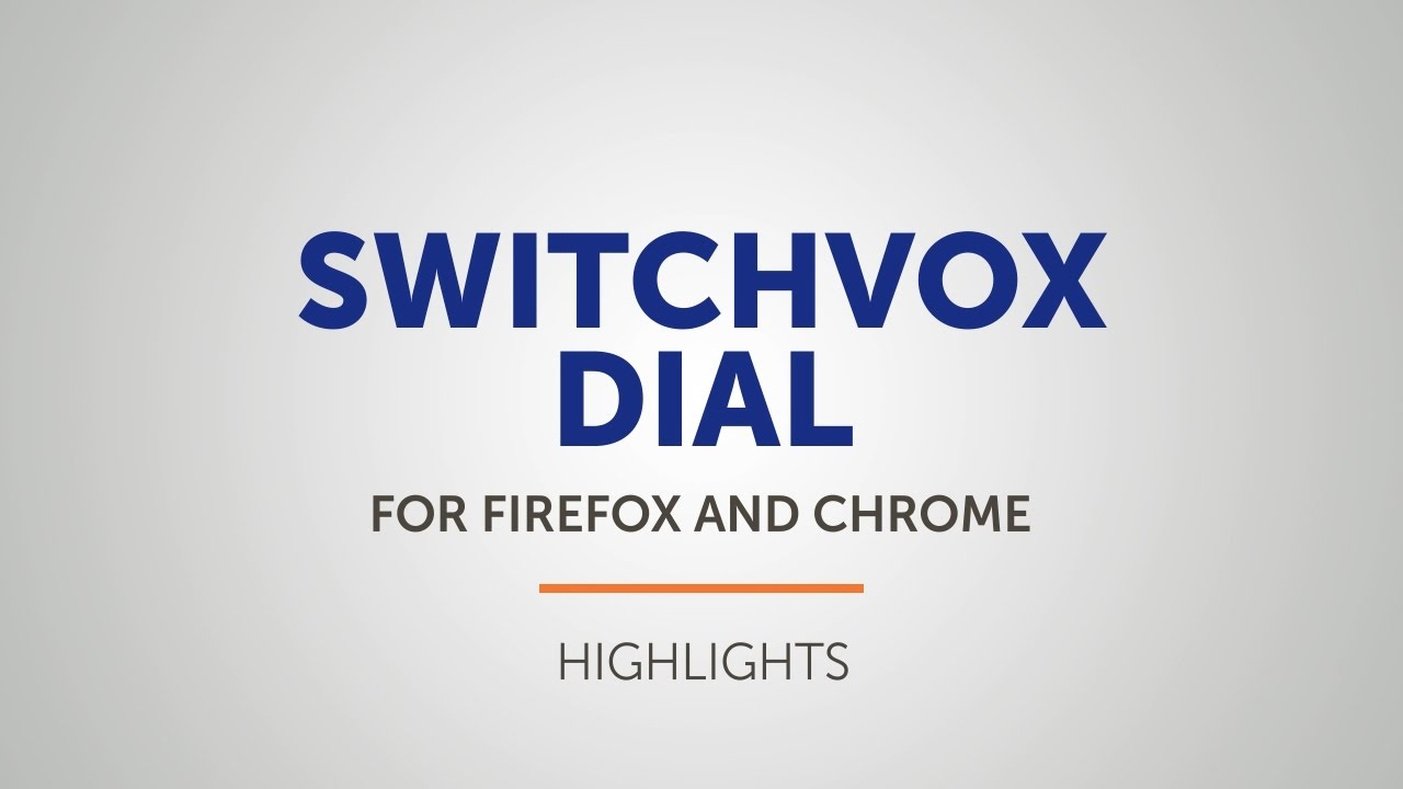 Click To Dial From Your Browser | Switchvox | Digium