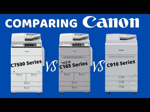 Comparing Canon Copiers: C7500 Vs C165 Vs C910 Series