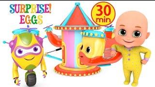 Kids Toys -  Ride at Amusement park  - Surprise Eggs unboxing Toys for Kids