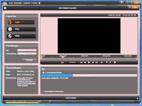 Film als Datei Exportieren in Avid studio und Pinnacle Studio