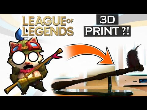 3D printing League of Legends MOST HATED champion's weapon! TEEMO!