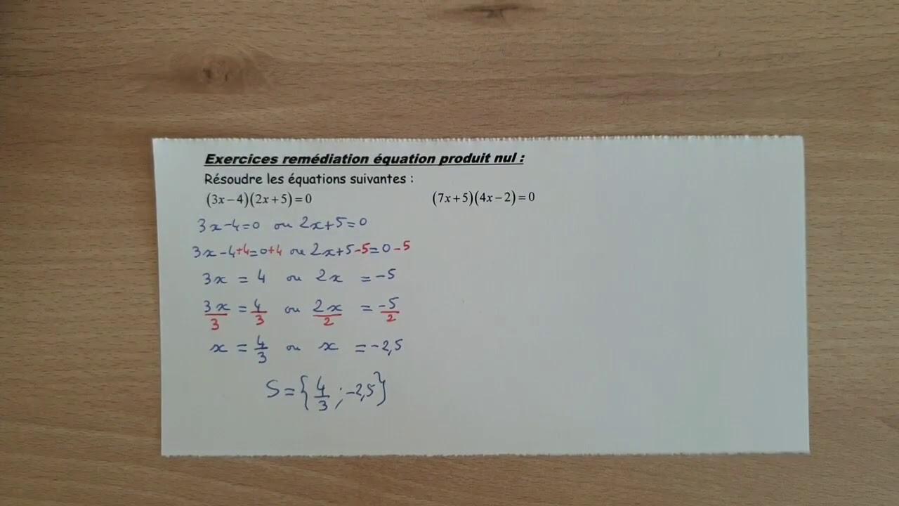 Correction Des Exercices De Remédiation Sur La Résolution ...
