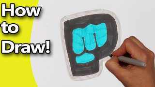 How to Draw  The Brofist, Pewdiepie