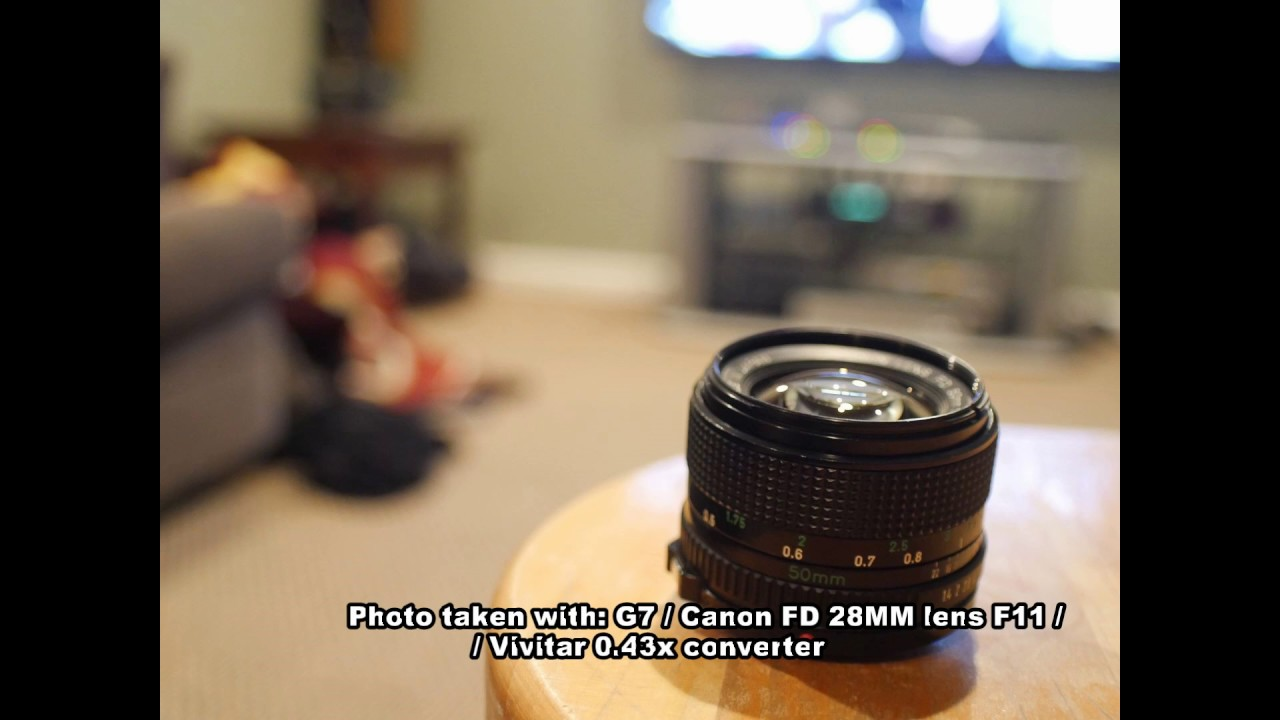 Surprising Results - Vivitar HD 0 43x Wide Angle Lens used with Panasonic  G7 / Canon FD Lenses