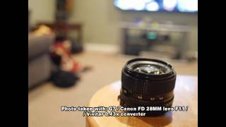 surprising results vivitar hd 0 43x wide angle lens used with panasonic g7 canon fd lenses