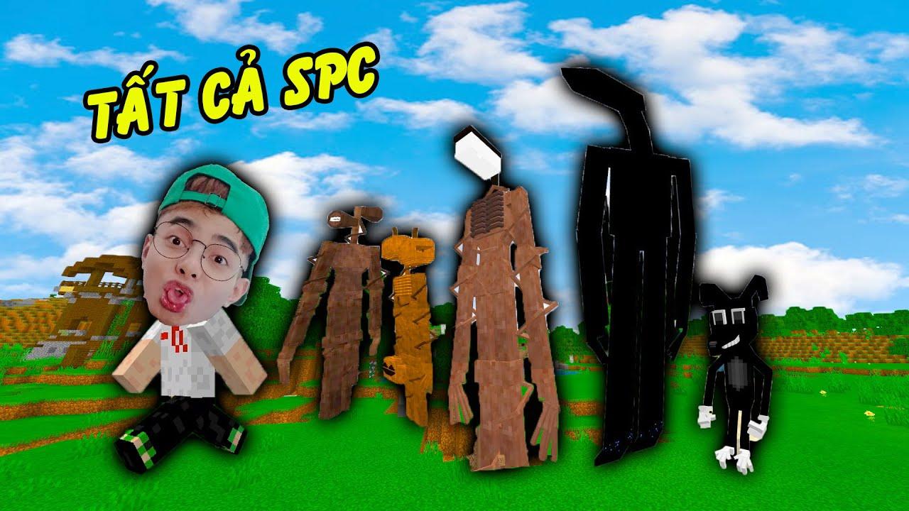 Tất Cả Các SCP Quỷ Đầu Đèn Đầu Loa Đầu Bí Ngô Trong Minecraft của ThắnG Tê Tê