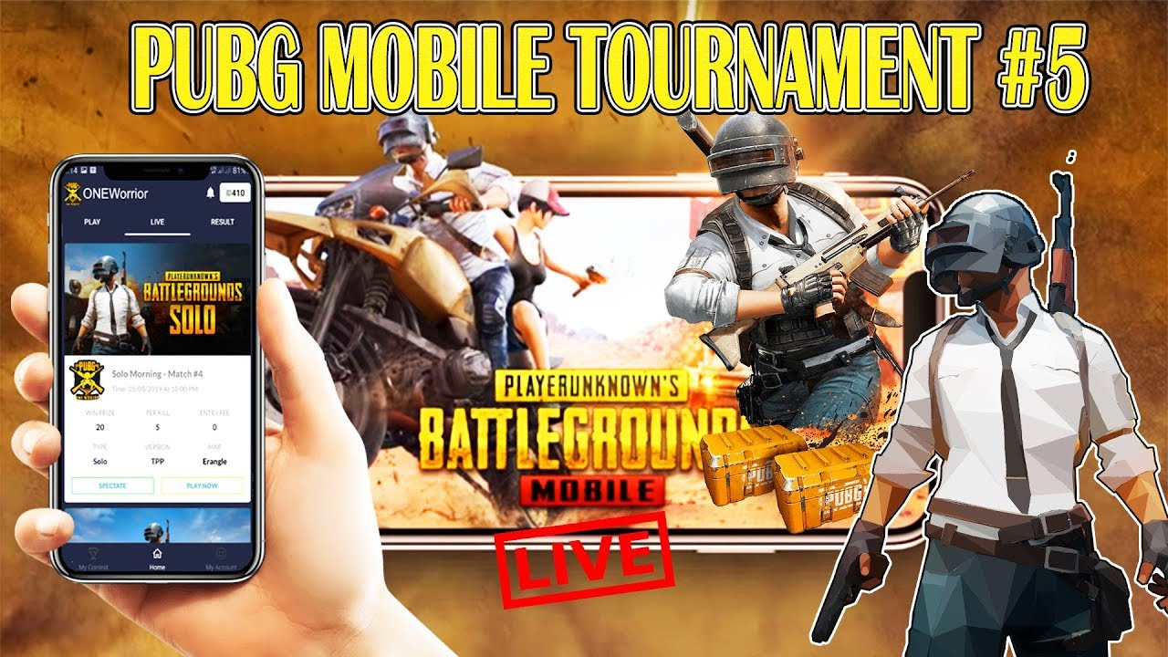 PUBG MOBILE TOURNAMENT #5 - NO ISSUES | WIN UNLIMITED CASH PUBG MOBILE