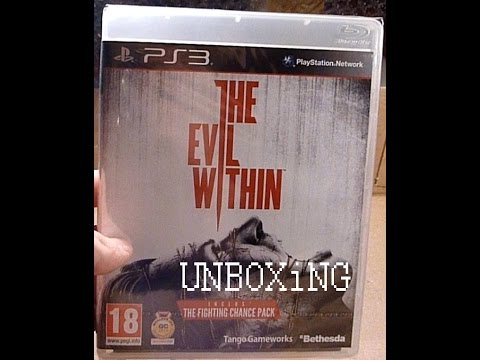 UNBOXiNG: THE EViL WiTHiN PS3(THE FiGHTiNG CHANCE PACK)