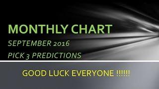 PICK 3 MONTHLY CHART SEPTEMBER 2016