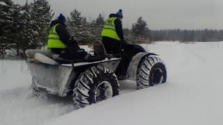 Каракат зис-5,по следу снегохода Буран 640