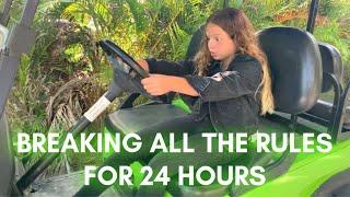 BREAKING THE RULES FOR 24 HOURS | SISTERFOREVERVLOGS #797