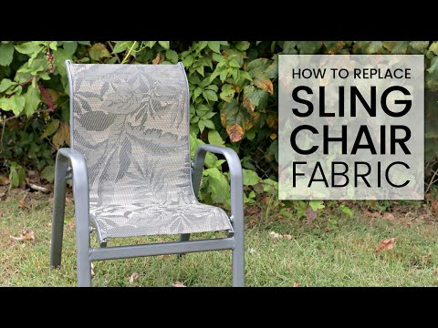 How To Replace Outdoor Sling Chair Fabric With Phifertex