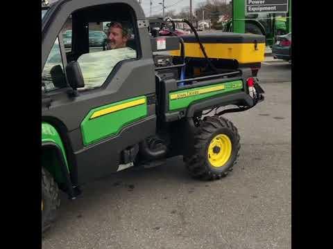 John Deere Gator With Rotary Broom Utility Vehicle Youtube