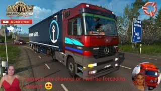 Euro Truck Simulator 2 (1.36)   Mercedes Actros MP1 Delivery to Kalmar Sweden DLC Scandinavia by SCS Software Schwarzmuller Trailer DLC by SCS Naturalux Graphics and Weather + DLC's & Mods  Support me please thanks Support me economically at the mail vane