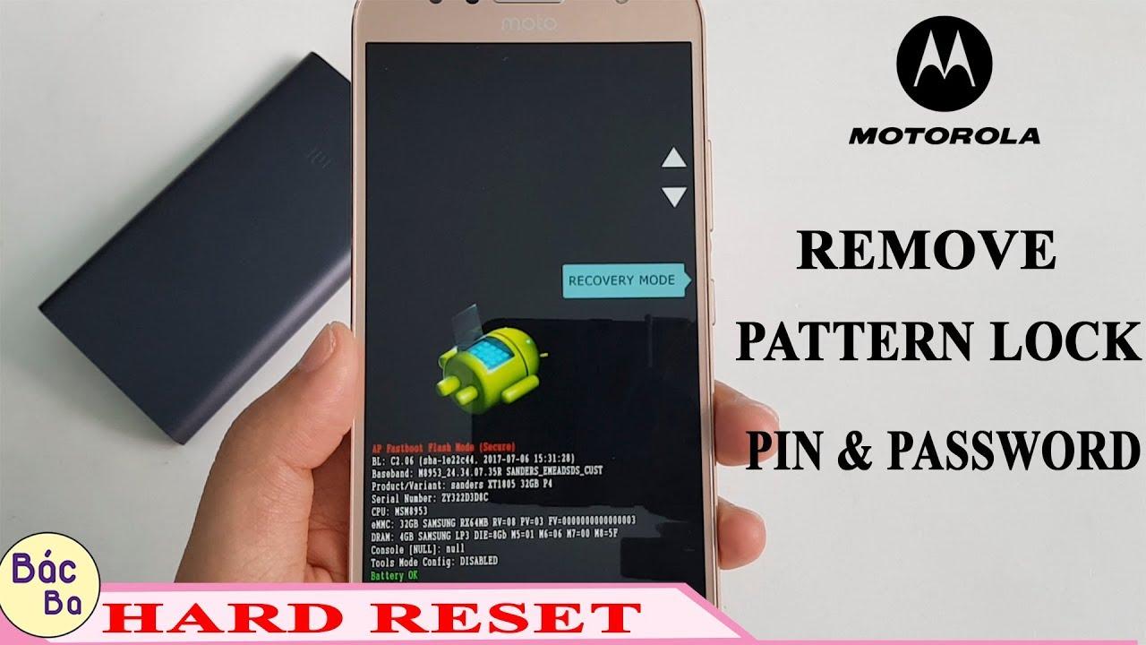 HARD RESET MOTOROLA G5S PLUS REMOVE LOCK PATTERN, PIN , PASSWORD &  FINGERPRINT