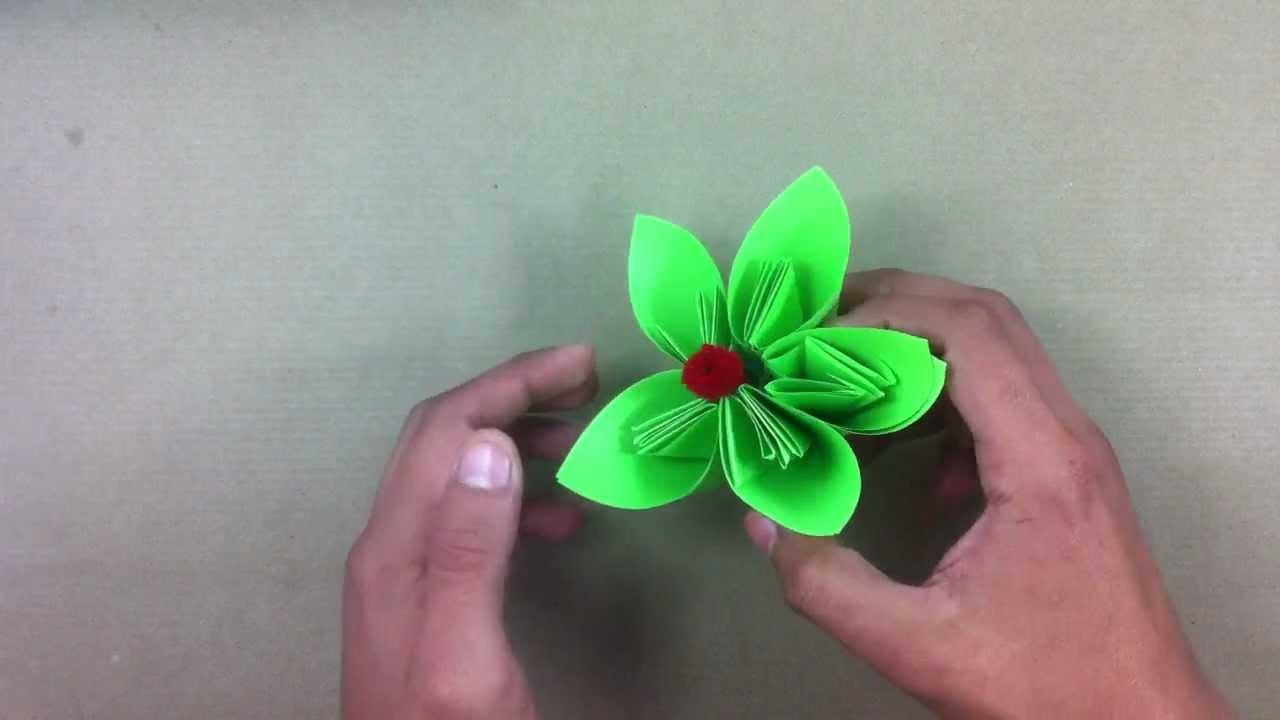 Hacer flor de papel manualidades en casa youtube - Youtube manualidades de papel ...