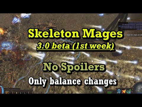 Skeleton Mages in 3 0 Beta - Path of Exile - YouTube