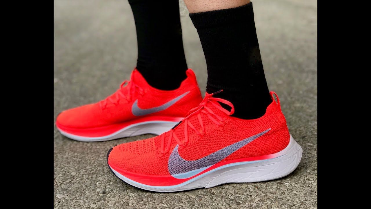d6b8f7c958eaa Nike Zoom VaporFly 4% Flyknit Shoe Review - YouTube