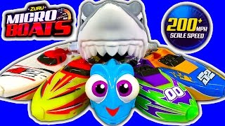 Micro Boats Shark Attack Challenge Little Dory Robofish Toy Review & BIG Trouble