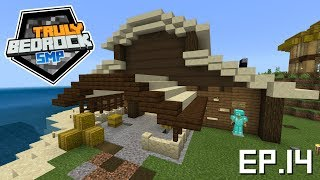 Truly Bedrock s0e14: Fixing the kelp farm and building the large cow barn