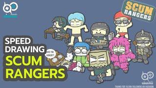 เบื้องหลังงานวาดแฟนอาร์ต Scum Rangers [Speed Drawing]
