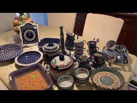 Polish pottery  collection from Poland.