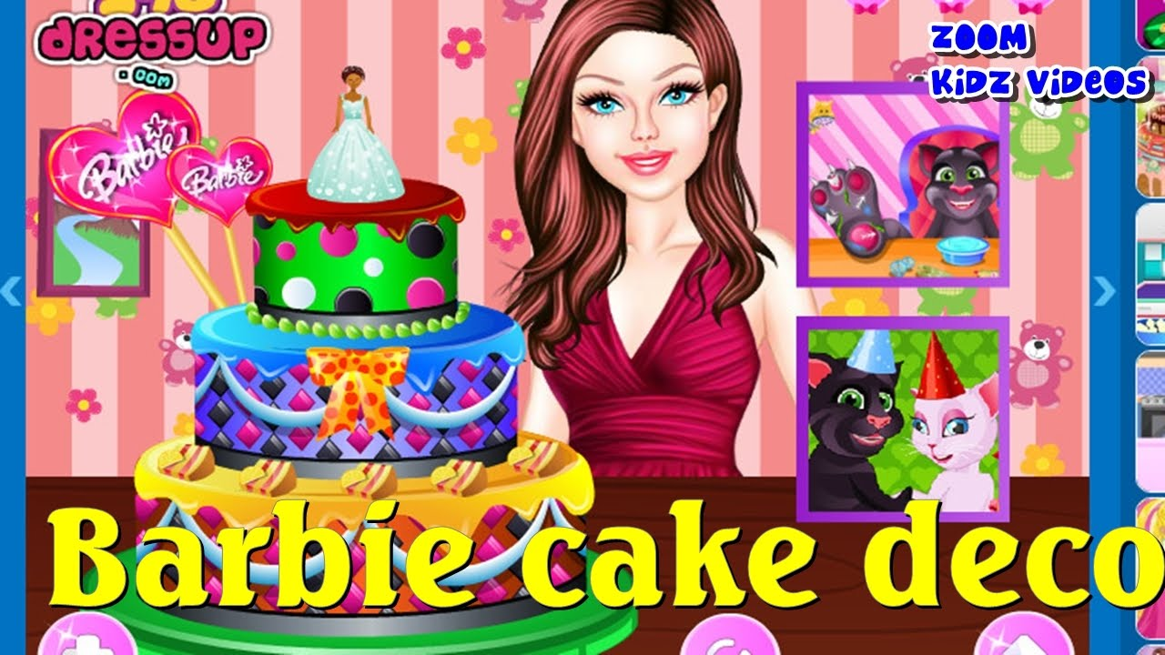 Make Barbie Doll Cake Games