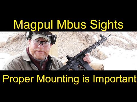 Iron Sight Zero with Magpul Mbus Sights at 50 Yards