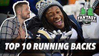 Fantasy Football 2018 - Top 10 Running Backs + Preseason Fever, Xena Battles - Ep. #581