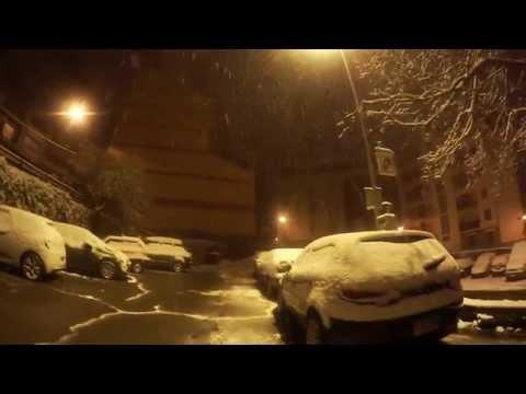Gran nevada sortida del Meu Raconet Karaoke a Escaldes Andorra 22 Febrer