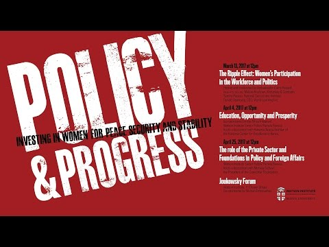 The Role of the Private Sector and Foundations in Policy and Foreign Affairs