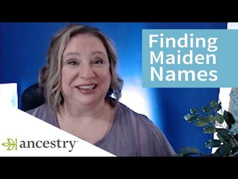 Finding Women's Maiden Names   Featuring Crista Cowan, Corporate Genealogist   Ancestry
