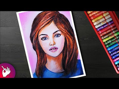 How to draw face for beginners with oil pastels