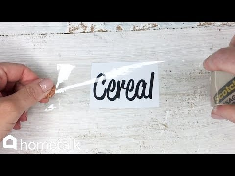 DIY Hack to Make Labels with Packing Tape